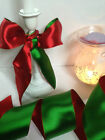 FESTIVE CRACKER Christmas Red & Green reversible - Luxury Wire Edge Ribbon