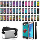 For Samsung Galaxy J7 J710 2nd Gen 2016 Brushed Hybrid Cover Phone Case + Pen