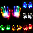 Внешний вид - Electro LED Finger Flashing Gloves Light Up Halloween Xmas Dance Rave Party Fun