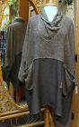 Dairi Moroccan Cowl Neck Basket-weave Combo Long Tunic 2 pockets fits M - 3X