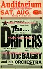 "THE DRIFTERS 1960 = Concert KLAMATH FALLS, OREGON Bagby = POSTER 7 SIZES 19""-36"""