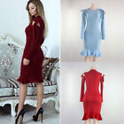 Women Sexy Bandage Bodycon Evening Cocktail Party Club Long Sleeve Dress O6767