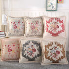 Car Bed Sofa Pillow Case Sweet Flower Square Cover New Home Cotton Linen O0030