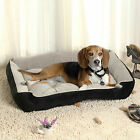 Super Warm Soft Cozy Puppy Dog Cat Pet Sofa Bed Basket Cushion Waterproof Black
