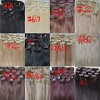 """AAA+ 20""""-26"""" Remy Human Hair Clips In Extensions Straight 16Clips 105g"""