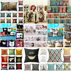 "Diverse Cotton Linen Pillow Case Sofa Waist Throw Cushion Cover Home Dec 18""x18"""