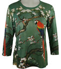 Breeke & Company - Bird on a Branch, 3/4 Sleeve, Scoop Neck Top