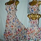 NEW PER UNA M&S SUN DRESS FLORAL BLUSH PINK NUDE BLUE CHIFFON BOHO SUMMER 8 - 24