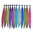 feather hair pieces - Colorful Feather Hair Piece Feather Straight Hair Piece Extension 40-45cm