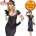 CA540 Gangster Gal + Hat Mafia Moll Chicago 1920s Womens Dress Up Costume Outfit