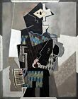 Harlequin with Violin by Pablo Picasso. Fine Art Prints on Canvas or Paper