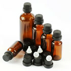 Wholesale 5~100ML Amber Glass Thick with Caps Dropper Essential Oil Bottles Jars