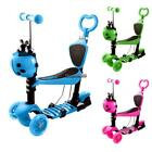 Child Kids 3-Wheel Adjustable Height Kick Scooter with LED Light Up EHE8