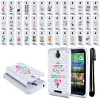 For HTC Desire 510 512 Crystal Bling HYBRID Phone Case Protective Cover + Pen