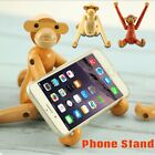 Wood Wooden Monkey Denmark Doll Desktop Stand Holder Toy For iPhone X 8 7 6 Plus