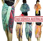 Ladies Beach Cover Sarong Sarung Contrast Colour Print Rectangle Scarf Shawl