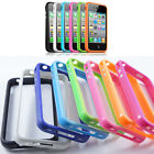 TPU Rubber Thin Bumper Case Frame Protective Cover For iPhone 4/5/S/SE/6/6s/plus