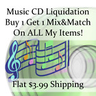Used Music CD Liquidation Sale ** Artists: 3-9 #188 ** Buy 1 Get 1 flat ship fee
