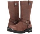 Harley Davidson® Mens Landon Riding Brown Leather Motorcycle Biker Boots D96051