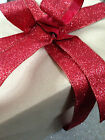 IT'S BEGINNING TO GLITTER RED like Valentines  -  Luxury Wire Edged Ribbon