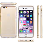 Ultra-thin Clear TPU Soft Back Cover & Mental Frame Case Skin For iPhone 6 Plus