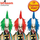 W495 Twisted Clown Scary Costume Wig Hair Cap Mohawk Freak Show Creepy Halloween