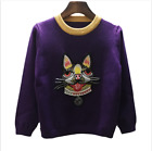 2018 New Occident hot sale diamond nail bead embroidery dog pullovers sweater