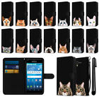 For Kyocera Hydro View C6742 C6743 Cat Slim Canvas Wallet Pouch Case Cover + Pen