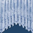 New Sally Luxury Ready Made Lace Jardiniere White Net Curtain Size Choice