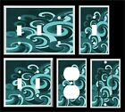 Swirl Wave  Blue Green Shades Home Decor ~ Light Switch Cover Plate