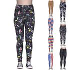 Women's Graphic Print Leggings Fashion Digital Design Elastic Stretch Pants