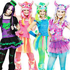 Cute Teen Monster Age 11-14 Girls Fancy Dress Halloween Animal Kids Costume New