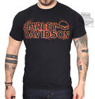 Harley-Davidson Mens Fire On Willie G Skull Black Short Sleeve T-Shirt $14.99 USD
