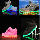 Boys Girls Children Luminous Sneakers Running Shoes Kids LED Light Lace Up Shoes