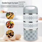 Stainless Steel 3Layers 3 Size Lunch Box Container Handle Food Thermal Insulated