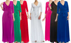 S-3X JANETTE Wrap Maxi Dress Solid Colors Full Length Long Boho Casual Career