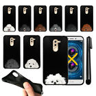 "For Huawei Honor 6X/ Mate 9 Lite 5.5"" Dog Skins Black SILICONE Case Cover + Pen"