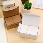 100Pcs Blank Kraft Paper Message Card Memo Wedding Party Thank you Cards MSYG