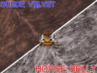 """Suede Velvet Horse Belly Print Fabric Roadhouse Upholstery / 58"""" Wide / Sold BTY"""