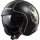LS2 OF599 Spitfire Flier Open Face Motorcycle Helmet Crash Bike Urban Motorbike