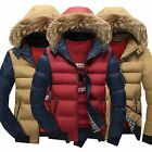 Men's Warm Parka Worm Thicken Down Coat Outwear Jacket Dreamed Fur Hooded