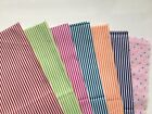 FINE STRIPE COTTON Material Small Scale for Tiny Projects Dolls House Miniatures