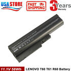Battery For IBM ThinkPad R60 R61 R61I R61E T60 T60P T61 T61P T500 W500 Z60M Z61M