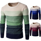 New Mens' Boys Long Sleeve Thickening  O-Neck Splicing Slim Fit Pullover 32
