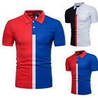 Short Slim Fit POLO Shirts Casual Golf T-shirt Sleeve  Tee Tops Jersey O1944