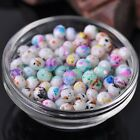 NEW 50pcs 8X6mm Faceted Rondelle Opaque Glass Lacquer Loose Spacer Beads