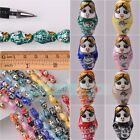 NEW 22x13mm Oval Charms Loose Ceramic Porcelain Spacer Beads DIY Findings