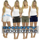 Womens Ladies Linen Summer Casual Shorts UK Size 10 12 14 16 18 20 22 24 MIDI