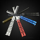 Outdoor Stainless Steel Butterfly Trainer Knife Comb Training Metal Practice