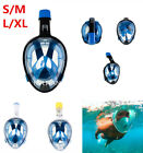 Foldable Panoramic View Full Face Snorkel Scuba Diving Mask Easybreath Fit Gopro